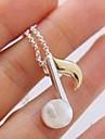 (1 pc) collier pendentif en alliage de cru d'argent (Silver)