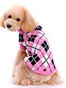 Собаки Свитера Розовый Одежда для собак Зима / Весна/осень В клетку Милые / Сохраняет тепло