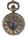 Masculino Relógio de Bolso Quartzo Banda Heart Shape Bronze