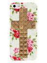 Новизна дизайна Бронзовый Крест Заклепки и Роуз Pattern Жесткий чехол с ногтей Клей для iPhone 5/5S