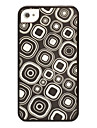 Geometric Pattern Radium Carving Case for iPhone 4/4S