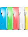 아이폰 5C (분류 된 색깔) 태양열 집열기 투명한 뒤 케이스