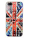Place Rivet britannique cas de dos de modèle de drapeau pour l'iPhone 5/5S