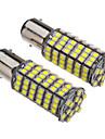 1157 BAY15D 6W 118x3528SMD 530-560LM 6000-6500K ampoule blanche pour la voiture (12V) LED