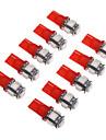 T10 Автомобиль красный SMD 5050Лампа подсвета приборной доски Лампа освещения номерного знака Габаритные огни Лампы сигнала поворота