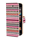 Aztec Colorful Stripe Pattern PU Full Body Case with Card Slot and Stand for iPhone 5/5S