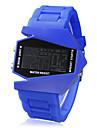 Hommes Montre Militaire Montre Bracelet Montre numérique Numérique LED LCD Calendrier Chronographe penggera Silikon BandeNoir Blanc Bleu