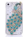 Cas de bijoux en métal de motif de paon pour l'iPhone 4/4S