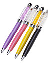 Crystal Filled High Sensitivity Touch Screen Stylus Ballpoint Pen for iPhone/iPad and Others (Assorted Colors)