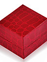 Vintage Red Leather Jewelry Box For Ring (Red)(1 Pc)