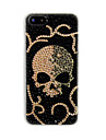 Full Zircon Skull Back Case for iPhone 5