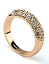 (1 Pc) Fashion Women's Transparent Rhinestone Band Rings(Silver,Gold)
