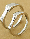 Silver Wedding Couple's Ring(Random Color,A Pair)