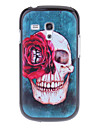 Red Rose Skull Pattern Hard Back Case Cover for Samsung Galaxy S3 Mini I8190