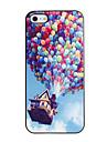 Colorful ballons Caisse dure de PC de modèle avec cadre noir pour iPhone 5/5S