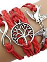 Wrap Bracelet de tissu rouge vintage 7Cm femmes (Rouge) (1 pc)