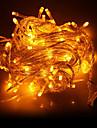 10М 100-LED желтый свет светодиодных Новогоднее украшение света шнура (220)