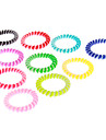(10pcs)Fashion Multicolor Hair Ties For Women(Orange,Green And More)