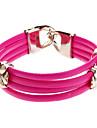 (1 Pc) Sweet 6cm Women'S Clover Leather Wrap Bracelet