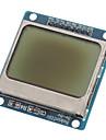 """파란색 백라이트 (용의 Arduino) 호환 1.6 """"LCD 노키아 5110 모듈"""