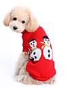 Собаки Свитера Красный Одежда для собак Зима Однотонный Милые / Сохраняет тепло / Рождество