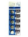 5 шт CR2032 3V серебряные кнопки сотового литиевая батарея