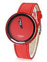 Mulheres Relógio de Moda Quartzo PU Banda Doce Preta Branco Azul Prata Vermelho Laranja Verde Rosa Roxa Amarelo