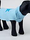 애완 동물 개를위한 귀여운 스타 패턴 따뜻한 스웨터 (분류 된 색깔, 크기)