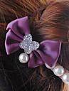 Purple Bowknot Barrettes