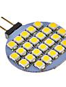 g4 3w 24x3528smd 72lm теплый / холодный белый свет светодиодные лампы для автомобиля (12 В постоянного тока)