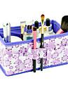 dobrável padrão de flor quadradas cosméticos escova caixa estande organizador armazenamento maquiagem pote (3 cores escolher
