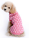 Cat / Dog Sweater Pink Dog Clothes Winter Hearts Keep Warm