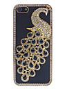아이폰 5/5S를위한 PU 하드 케이스 커버 다이아몬드 웅대 한 공작