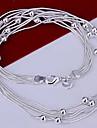 (1 Pc)Fashion  Silver Alloy Chain Necklace(Silver)