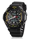 Masculino Relógio Esportivo Quartzo Quartzo Japonês LCD Calendário Cronógrafo Impermeável Dois Fusos Horários alarme Banda Preta marca
