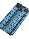16-канальный 12 релейный модуль Совет Вт / Мощность LM2576 / Оптрон защиты
