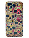 Cool Skulls Pattern Glossy Plastic Protective Case For iPhone 5/5S