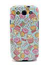 Cartoon Donut & églantier Motif IMD TPU pour Samsung Galaxy Galaxy S3 I9300