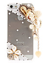 Lovely Pearls and Diamond Transparent Hard Case with Delicate Hanging Ornament for iPhone 5/5S
