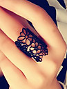 European And American Style Retro Hollow Carved Flower Opening Mysterious Lace Ring