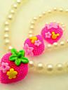 Европейские White Pearl (браслеты и браслеты и кольца и ожерелья) Pearl Ювелирные наборы
