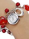Mulheres Relógio de Moda Bracele Relógio Quartzo Banda Heart Shape Pendente Vermelho