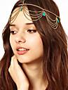 Bohémien turquesa borlas Headband