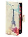 Eiffel Pattern PU, Fresh serviette de style complet du corps avec fente pour carte et support pour iPhone 5C