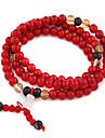 (1 Pc) Vintage  7Cm Women'S Multicolor  Agate  Wrap Bracelet(Red,Blue And More)