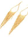 European Style Retro Tassel Alloy Drop Earrings(Assorted Color)