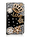 Crown Zircon PU Leather Case Full Body para iPhone 4/4S (cores sortidas)