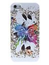 Удивительные Разработанный Большая Бабочка шаблон Силиконовый мягкий чехол для iPhone 5/5S