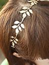 5 оставляет Золотой металлический лист диапазона волос держателя моды аксессуары для волос
