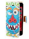 Blue Dragon Pattern PU Case Full Body avec fente pour carte et stand pour iPhone 5C